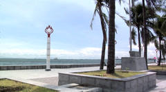 Roxas Boulevard and the High Rising Buildings of Malate Manila Philippines Stock Footage