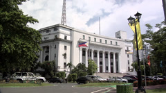 Department of Tourism  Rizal Park Manila. Philippines Stock Footage