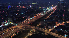 Flyover South Super Highway in Makati Philippines Stock Footage