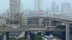 Flyover South Super Highway in Magallanes Manila Philippines Stock Footage