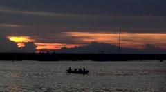 Dramatic Sunset over Manila Bay Philippines Stock Footage