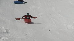 HD 2014 Monarch Snow Kayak-8-H.264 Stock Footage