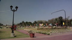 Rizal Park in Manila Philippines looking East Stock Footage