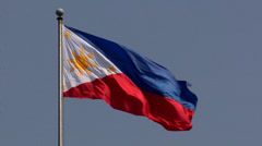The Philippine Flag Stock Footage
