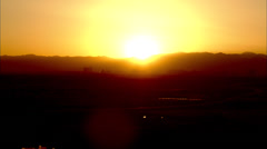 Sunset Las Vegas Skyline Stock Footage