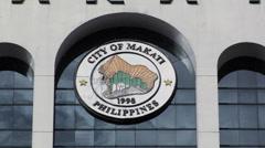 The Makati Cityhall Manila Philippines - stock footage