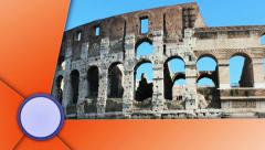 Coliseum, Rome, with Alpha Channel Last Media Stock Footage