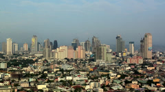 Elevated View to the High Rise Buildings of Ortigas Manila Philippines - stock footage