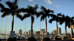 View of Roxas Blvd and Malate High Rise Buildings late Afternoon Stock Footage