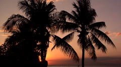 Sunset in Manila Bay Philippines Stock Footage