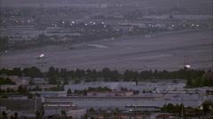 Airplane Airport Las Vegas Stock Footage