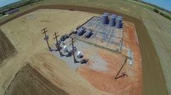 Oil Well Aerial 1 Stock Footage