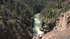 Colorado mountain river steam engine POV HD 123 Stock Footage