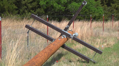Electric Pole on Ground 1 Stock Footage