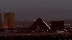 Skyline Las Vegas Nevada Stock Footage