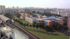 East-West Subway Line with view of North Western Part of Singapore Stock Footage