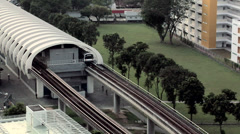 East-West Subway Line leaving the Station Singapore Stock Footage