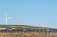 Power plant renewable energy Stock Photos