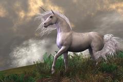 White unicorn stallion Stock Illustration