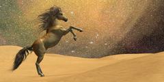 Wilderness horse Stock Illustration