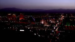 Lights Las Vegas Nevada Stock Footage