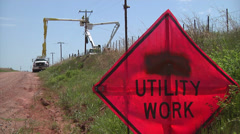 Electric Line Workers 2 Stock Footage