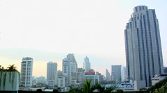 View of Hi-Rising Buildings in Sukhumvit and Ploenchit District. Stock Footage