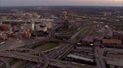Dallas Freeway City Stock Footage
