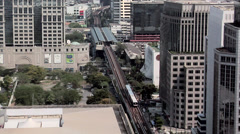 Elevated View of Ploenchit and Sukhumvit District. Bangkok Stock Footage
