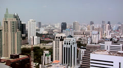 Elevated View of Ploenchit  District. Bangkok Stock Footage