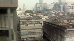POV from Skytrain above Phaya Thai Road near Ratchathewi Station Stock Footage