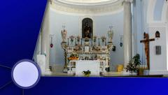 Christian Church, with Alpha Channel Last Media Stock Footage