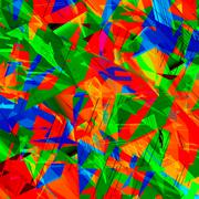 Chaotic Colorful Art Stock Illustration