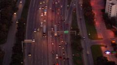 Dallas Freeway Traffic Stock Footage
