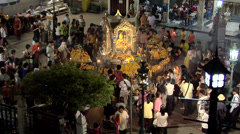 Evening Worshippers at Erawan Shrine Bangkok Stock Footage