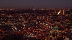 Dallas Skyline Night Arkistovideo