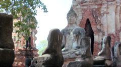 Temple Ruins of the Ancient Palace Wat Phra Si Sanphet Ayuthaya - stock footage