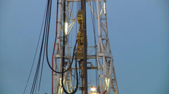 Drilling Rig Derrick - stock footage