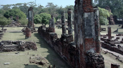 Temple Ruins of the Ancient Palace Wat Phra Si Sanphet Ayuthaya Stock Footage