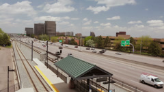 Lightrail Station Stock Footage