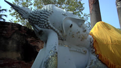 The laying Buddha in Wat Yai Chaya Mongkol Ayuthaya Stock Footage