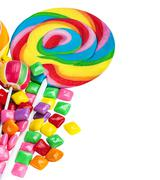 Sweets and chewing gum Stock Photos