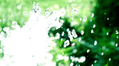 Water hose slow motion Stock Footage