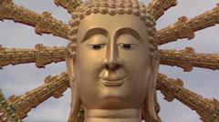 The Big Buddha at Wat Phra Yai in Thambon Bo Koh Samui Stock Footage
