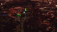 Lights Building Dallas Stock Footage