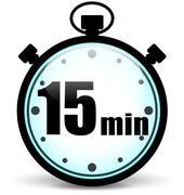 Fifteen minutes stopwatch Piirros