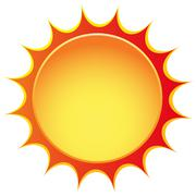 vector sun icon - stock illustration