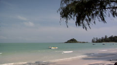 Ocean Waves to the Beach Koh Samui Stock Footage