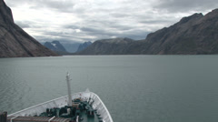 Prince Christian Sound as shot from a passing ship Stock Footage