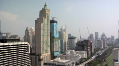 Buildings along Ratchadamri Stock Footage